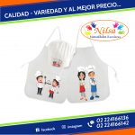 DELANTAL MINI CHEF PARA NIÑOS CON GORRO