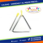"TRIANGULO MUSICAL 4"" Y 7"""